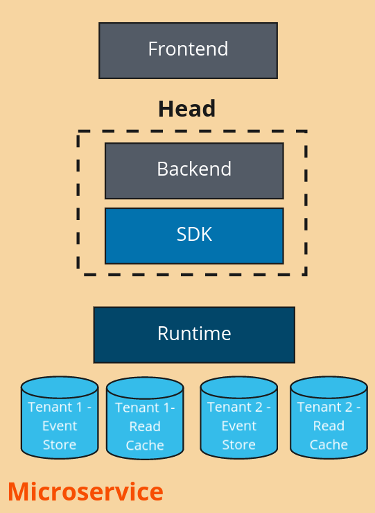 Example of multi-tenant microservice