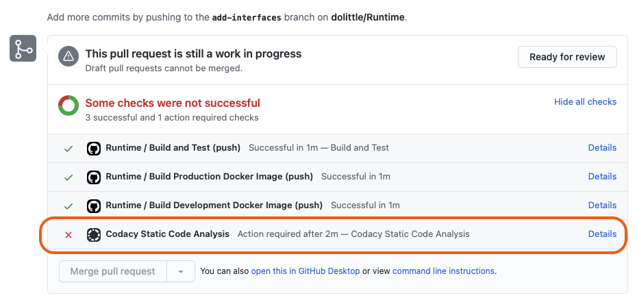 Codacy Pull Request Check